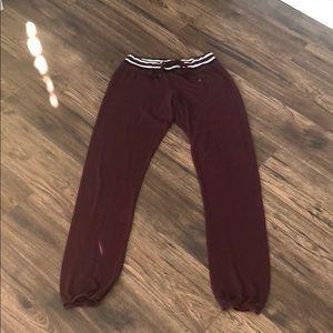 Make + Model Burgundy Loungewear Pants